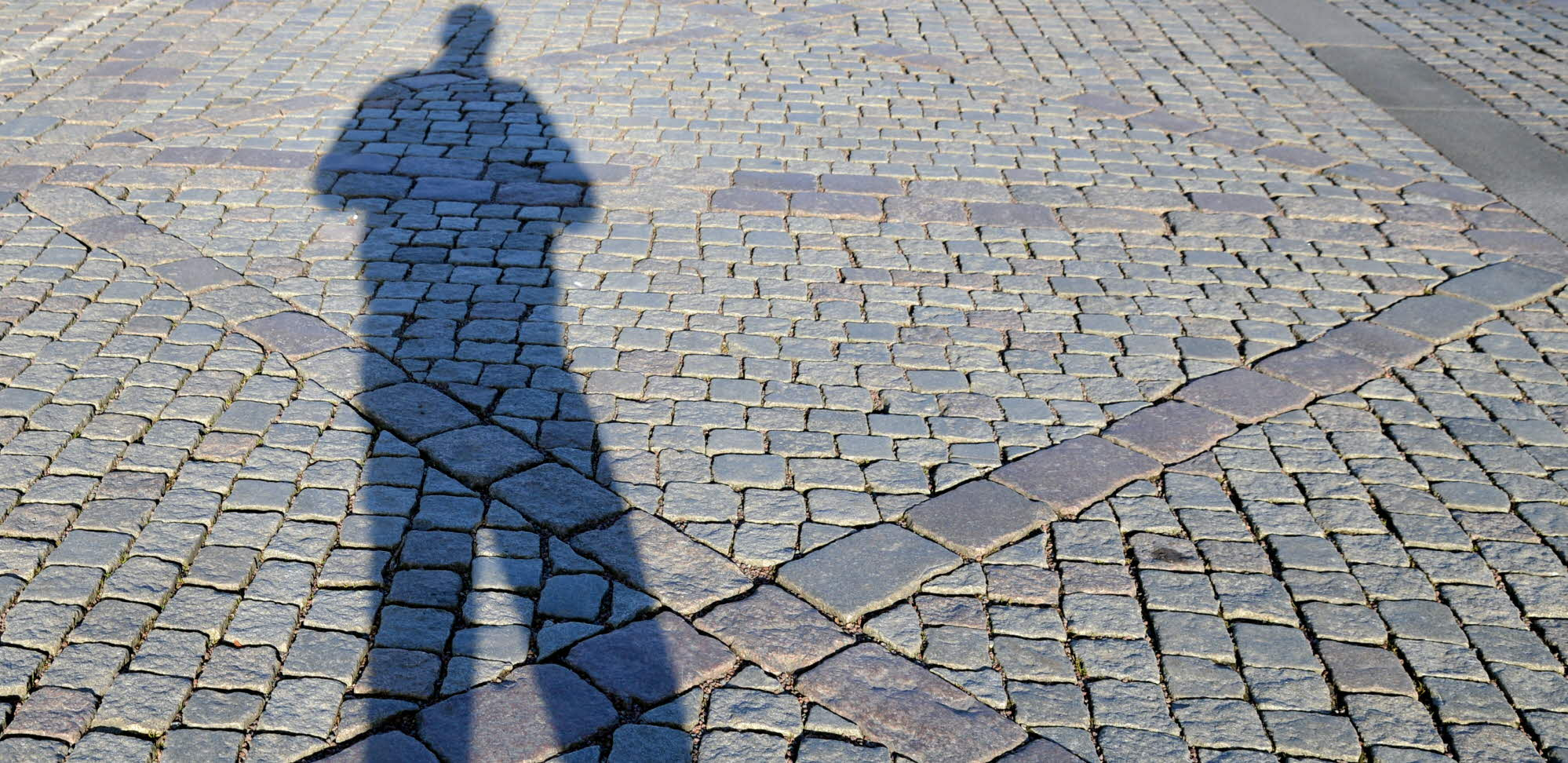 shadow of a person on the ground
