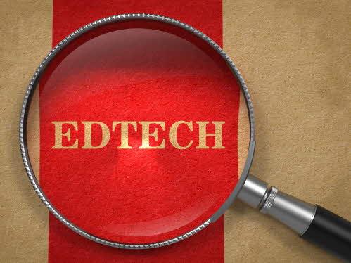 """förstoringsglas över texten """"edtech"""""""