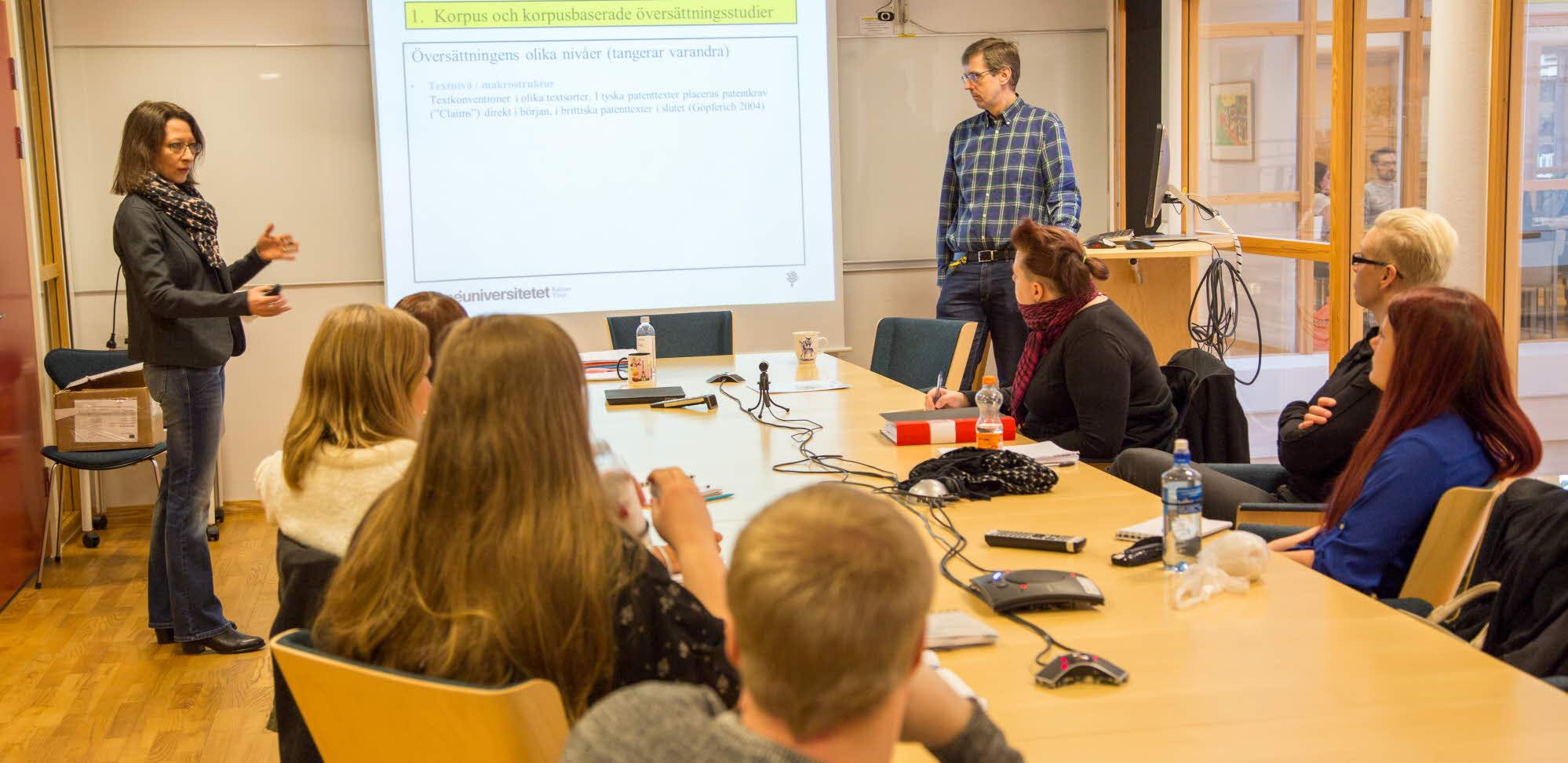 föreläsning i grupprum