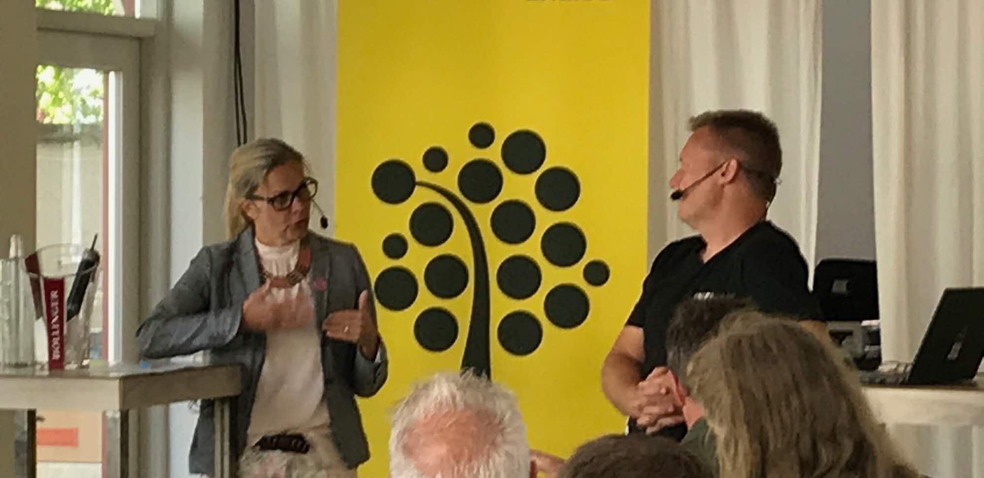 Lena Nitz, Polisförbundet, och Ola Kronkvist, Linnéuniversitetet