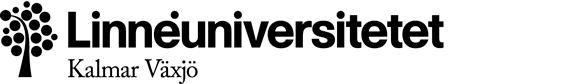 Linnéuniversitetets ordmärke + symbol + underavsändare