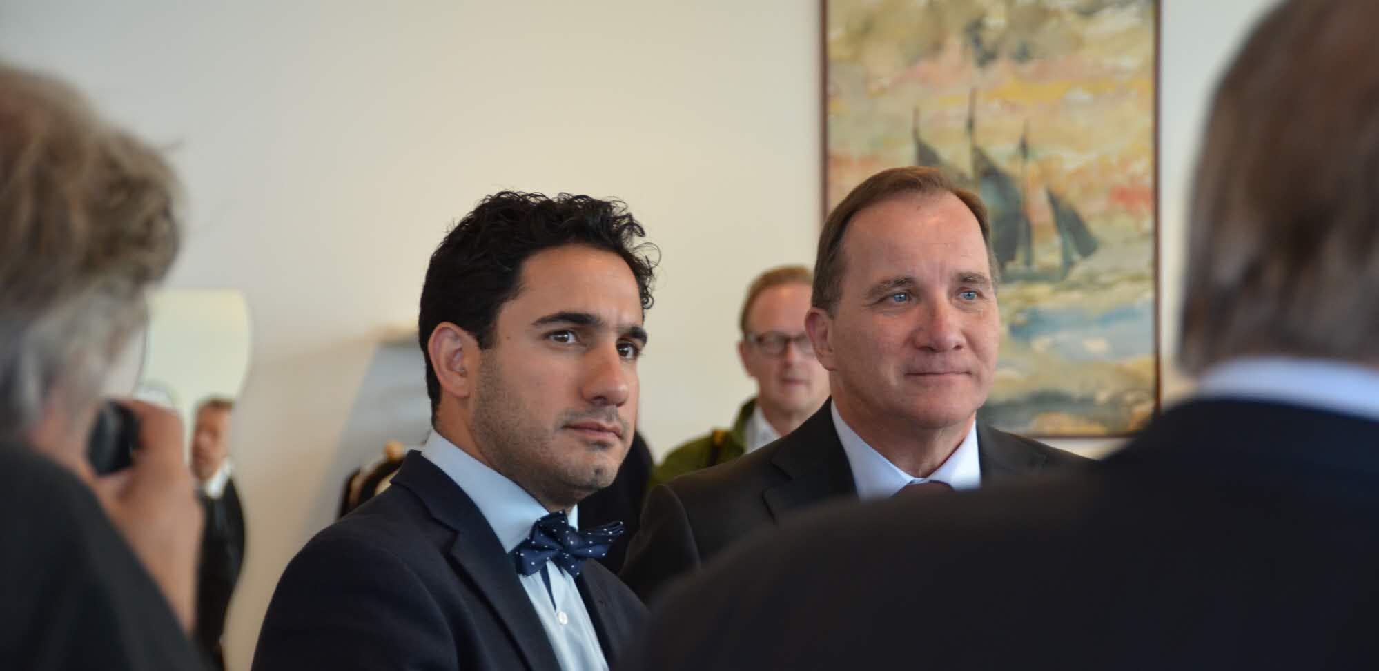 Statsministern och civilministern besökte eHälsoinstitutet.