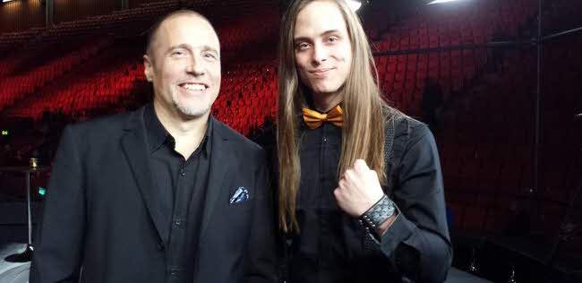 Låtskrivarna Henrik Wikström och Martin Eriksson, foto: Gustav Dahlander, SVT