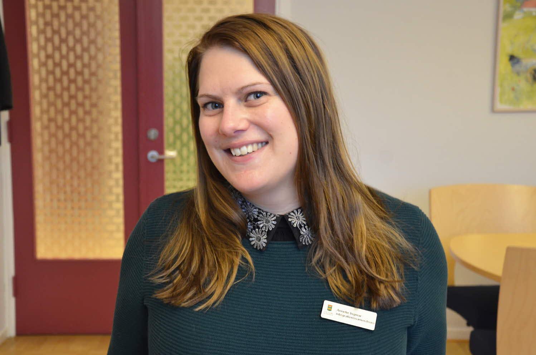 Annelie Ingmar jobbar med integration i Ljungby kommun. Fotograf: Besarta Jusufi