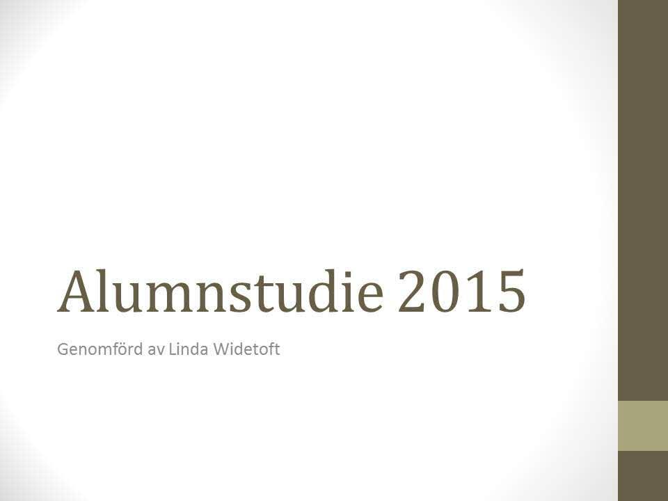 Alumnistudie 2015